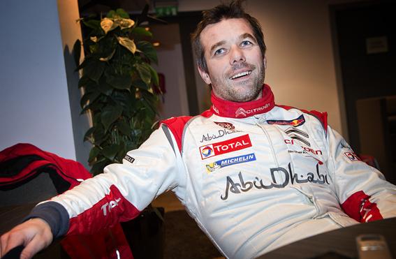 Sebastien Loeb på presskonferens inför Rally Sweden.