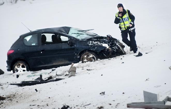 110110 Olycka vid Torsebro. Bild: Annica Jönsson