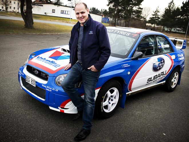 Stoffe Nilsson, Vinslöv med sin nya Subaru rallybil