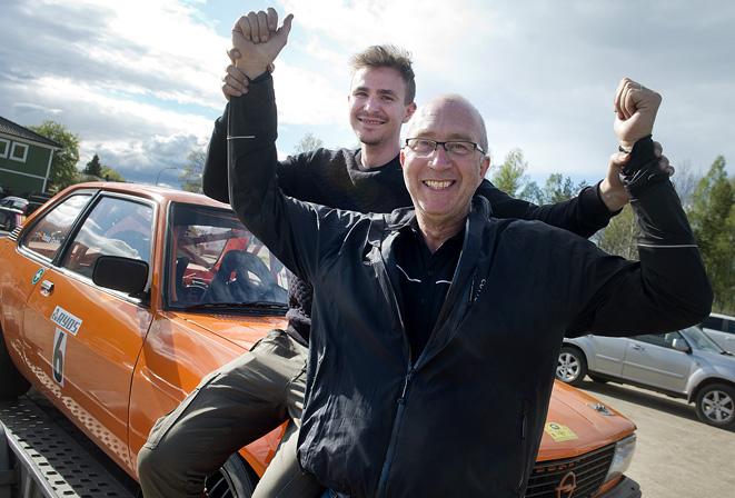 Rolf Grybb, Hässleholm med sonen Tobias vann Tingsryd Rallysprint