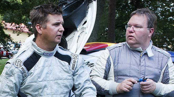 """Joachim """"Jocke"""" Grahn till höger och Rickard Nilsson Simrishamns MK"""