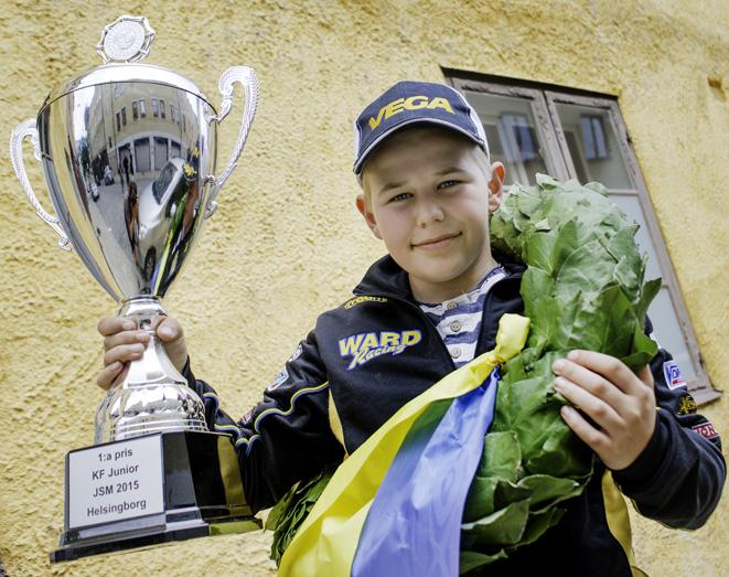 Sebastian Persson har tagit JSM-guld i Karting