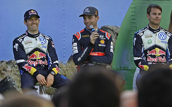 Sébastien Ogier (F), Dani Sordo (ES), Andreas Mikkelsen (NOR) WRC Rally Argentina 2016
