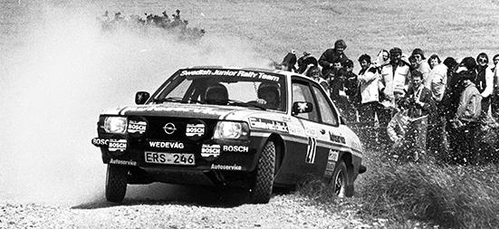 Mats Jonsson, Forshaga MC på väg mot si nförsta seger i South Swedish Rally 1983