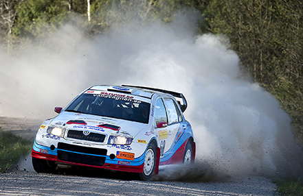 PG Andersson-Andres Fredriksson på SS1 i South Swedish Rally