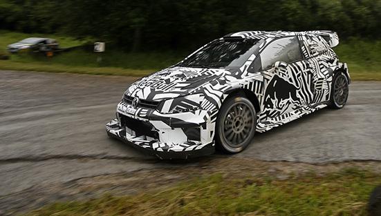 Dieter Depping, Erwin Mombaerts Volkswagen Polo R WRC (2017) Test Baumholder 2016