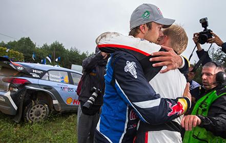 Andreas Mikkelsen (NOR), Ott Tanak (EST) WRC Rally Poland 2016