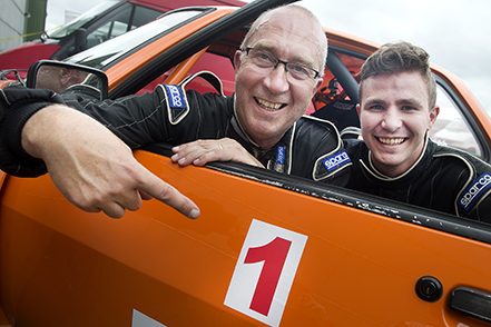 Rolf och Tobias Grybb, Hässleholms MK segrade i Bravida Prenad Sprinten på Ljungbyheds Motorbana