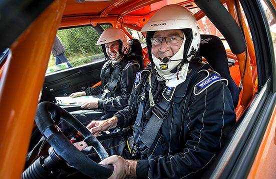 Rolf och Tobias Grybb, Hässleholms MK vann SMK Örkelljungas Rally-Special, Skyttesvängen