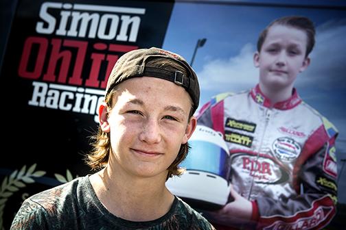 Simon Ohln, Kristianstad Kartingklubb inför SM på Åsum Ring.