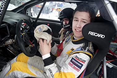 Emil Bergkvist och Joakim Sjöberg i Rally Sweden 2015.