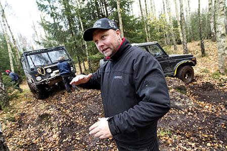 Hässleholms Motorklubb har Off road körning på Möllerödsfältet ordförande Anders Forsell