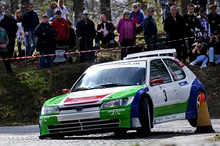 20100502 Brian Madsen tvåa i Lille Mats Rallysprint. Bild. Tommy Svensson