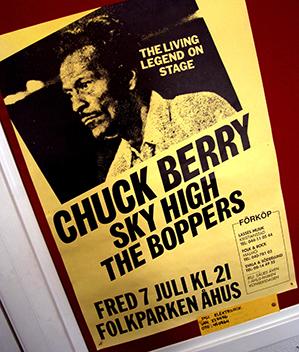 060125 Chuck Berry i slutet av åttiotalet. Bild. Tommy Svensson