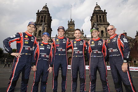 2017 FIA World Rally Championship Round 03, Rally Mexico 08-12 March 2017 Dani Sordo, Marc Marti, Thierry Neuville, Nicolas Gilsoul, Hayden Paddon, John Kennard Photographer: Sarah Vessely Worldwide copyright: Hyundai Motorsport GmbH