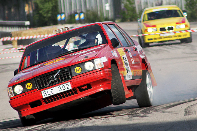 Peter Zackrisson visade hjulyft i South Swedish Rally Asfaltsprint.