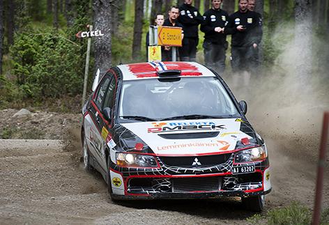 Eyvind Brynhildsen totalsegrade i South Swedish Rally