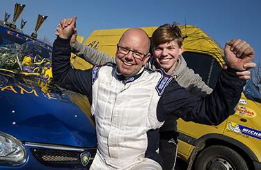 Mats Andersson, Eslövs MK med sonen Simon vann RS-premiären, Express-Specialen i Hörby.
