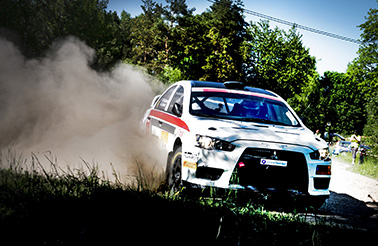 MK Kopparbergs Jacob Jansson blev sensationen i South Swedish Rally med sin andra plats