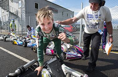 SM i Karting Åsum Ring Caesar Kristiansson Kristianstad Karting Klubb tog SM-guld i OK Junior