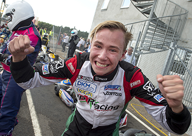 SM i Karting Åsum Ring Noah Milell, Kristianstad Karting Klubb tog SM-guld i KZ2