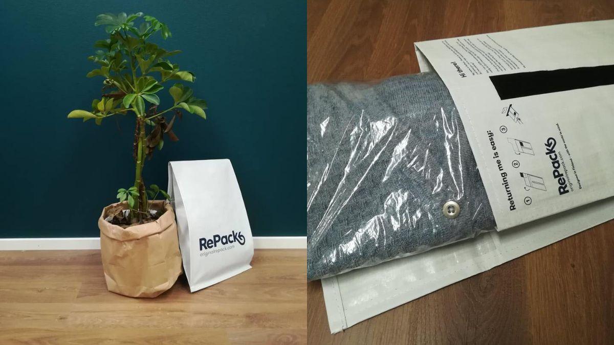 Repack on ekologinen pakkausmateriaali.
