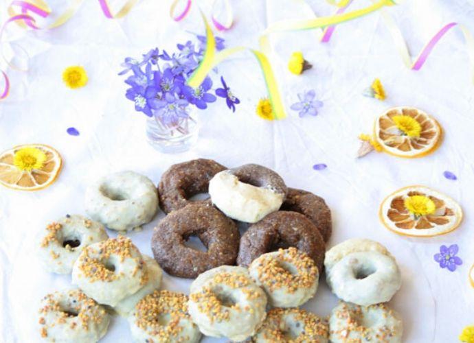 Raw Dessert Collection: Donitsit ja Pakurilimonaati
