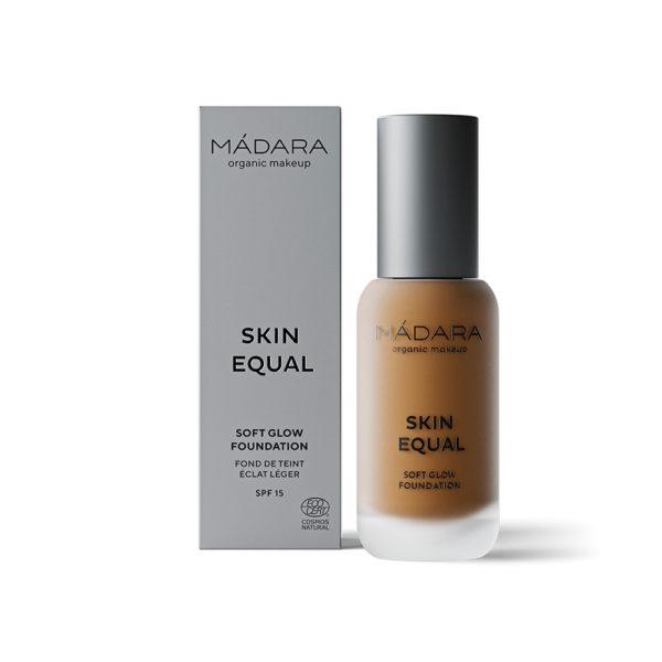 Mádara Skin Equal Soft Glow Foundation -Kuulas Meikkivoide Caramel 70