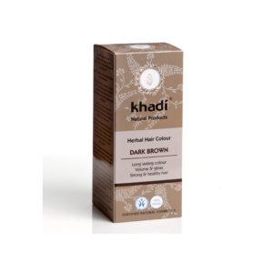 Khadi Jauhemainen Kasvihiusväri Dark Brown 100gr