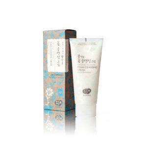 WHAMISA Organic Flowers Foam Cleansing Cream - vaahtoava puhdistusvoide kaikille ihotyypeille 200ml