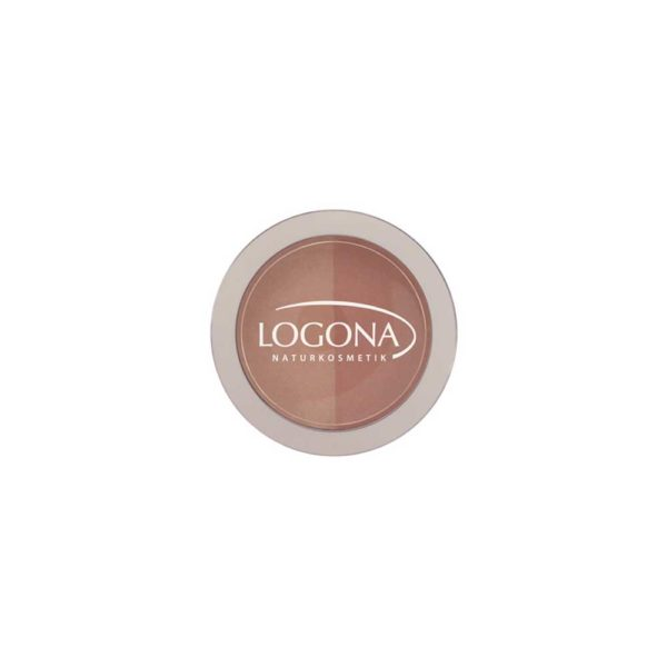 LOGONA BLUSH DUO NO. 03, BEIGE + TERRACOTTA 10g