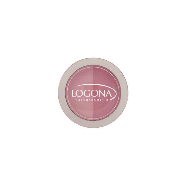 LOGONA BLUSH DUO NO. 01, ROSE + PINK 10g