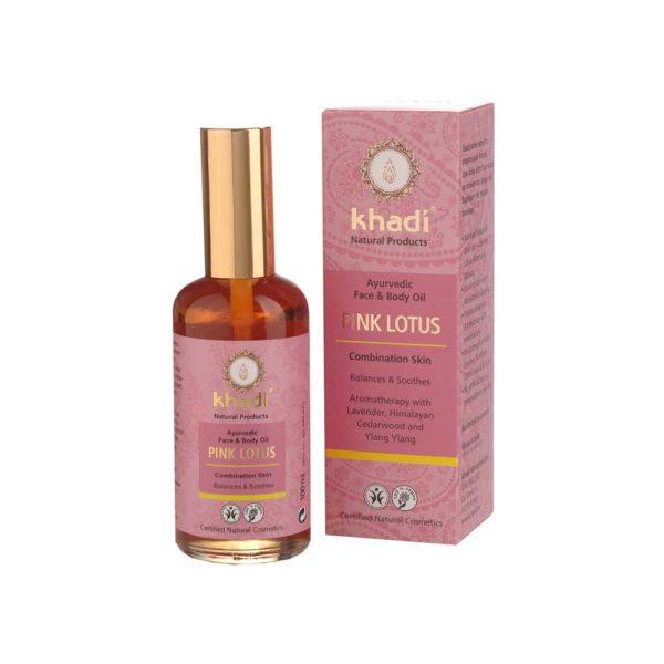 KHADI PINK LOTUS FACE & BODY OIL - SEKAIHOLLE 100ml