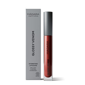 MÁDARA Glossy Venom Hydrating Lip Gloss -Kosteuttava Huulikiilto Vegan Red 75