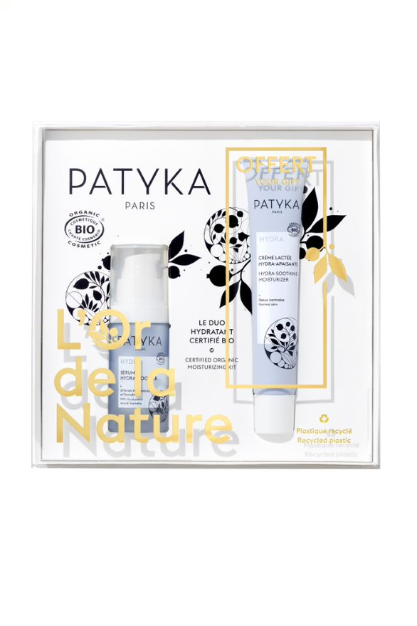 Patyka Hydra Duo -Lahjapakkaus: Hydra Booster Serum + Hydra Soothing Moisturizer