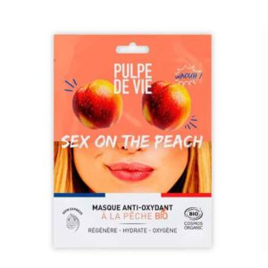 Pulpe De Vie Sex on the Peach Kosteuttava ja heleyttävä kangasnaamio 20ml