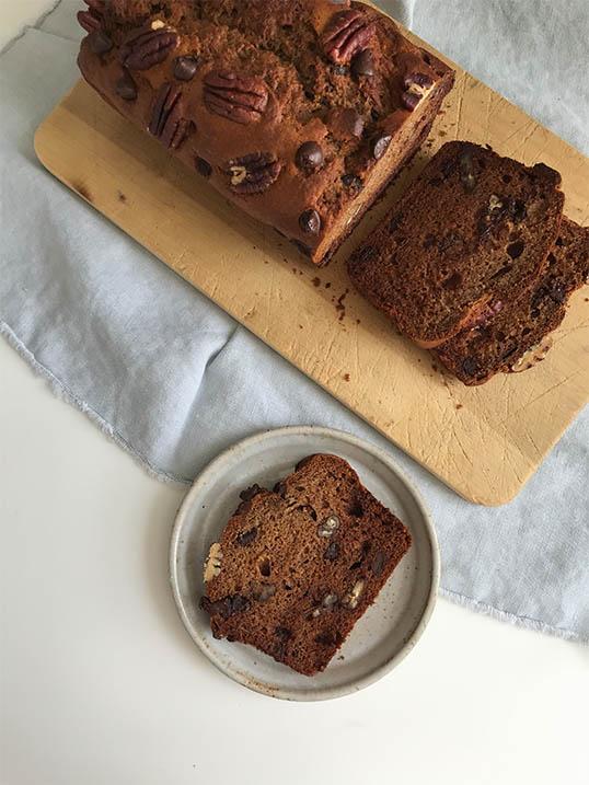 Chocolate and Pecan Banana Bread