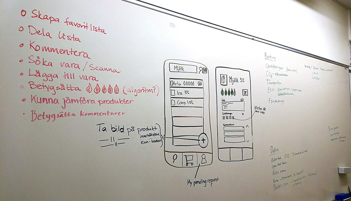 En enkel wirefram och förklaring till projektet