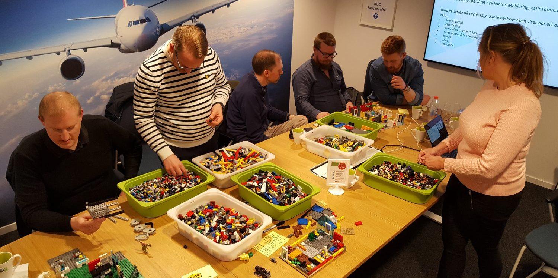 Legobyggandet i full gång