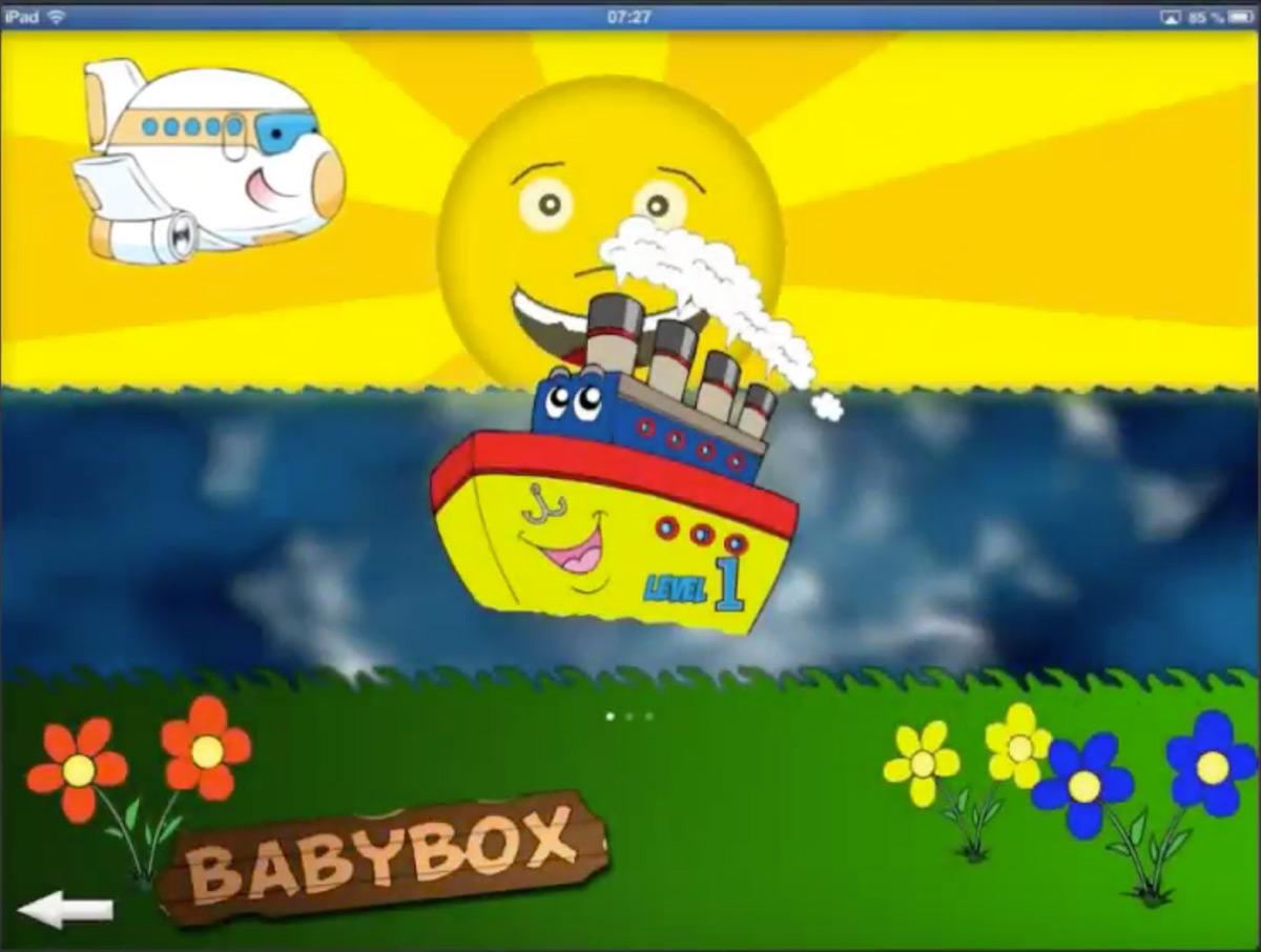 Appen BabyBox består av en plocklåda, där barnet skulle lägga klossar i rätt hål