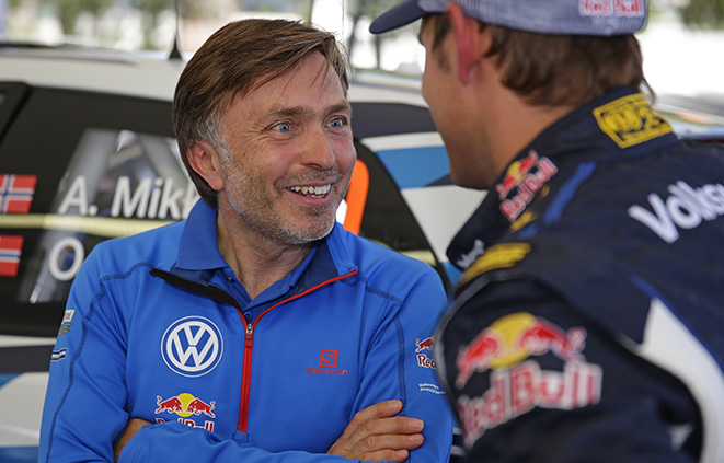 Jost Capito, Andreas Mikkelsen (NOR) WRC Rally Argentina 2015
