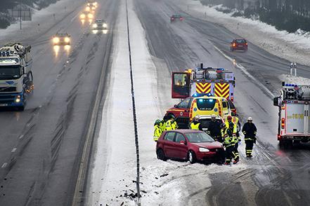Olycka på väg E22 förbi Bromölla.