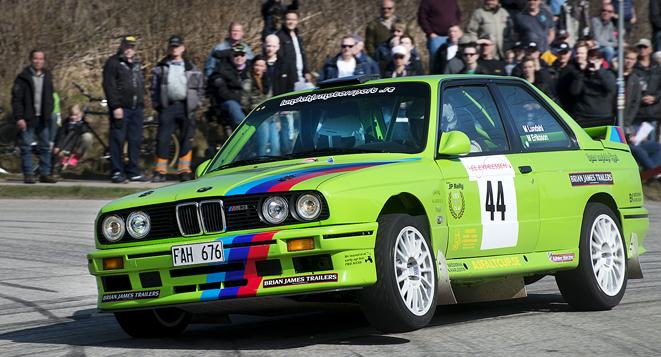 Mats Lundahl, Svedala MK slutade tvåa i SMK Hörbys rallytävling Express-Specialen.