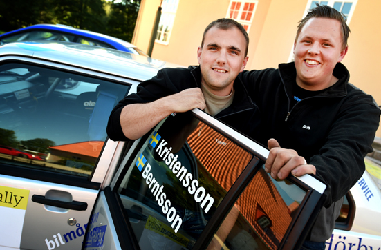 Tom Kristensson och Timmy Berntsson, SMK Hörby leder både Rally-DM och Sydsvenska Rallycupen