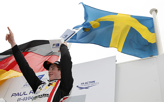 Prize giving ceremony, 22 Joel Eriksson (SWE, Motopark, Dallara F312 - Volkswagen), FIA Formula 3 European Championship, round 1, race 3, Paul Ricard (FRA), 01. - 03. April 2016