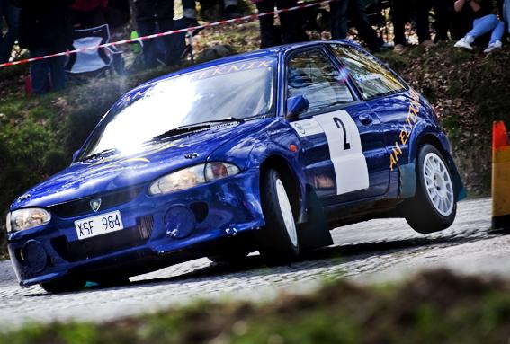 20100502 Mats Andersson Eslövs MK på väg mot att bli näst bäste svensk i Liee Mats Rally Sprint. Bild. Tommy Svensson