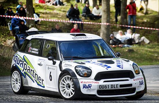Lille Mats Rallysprint, norrmannen Rune Danneborg vann med sin WRC-Mini.