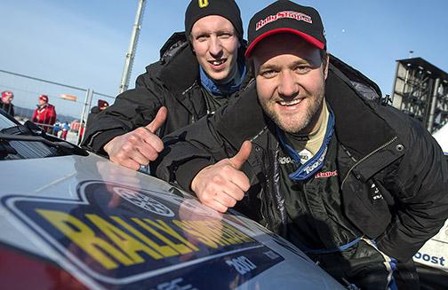 Anders Åberg och Björn Johnsson, Hässleholms MK  lyckades med måsättningen och tog sig i mål i Rally Sweden.