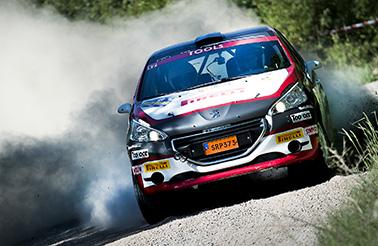 Anders Åberg och Björn johnsson, hässleholms mK i South Swedsih Rally