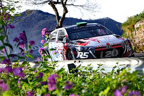 2017 Sanremo Rally,  30 March-1 April 2017,  Hayden Paddon, Seb Marshall, Hyundai New Generation i20 R5, Action,  Photographer: RaceEmotion,  Worldwide copyright: Hyundai Motorsport GmbH